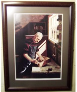The Cabinet Maker Print art Ronald Frontin sign... - $200.00