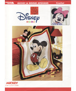 Disney Mickey & Minnie Afghans Crochet Patterns Book Mouse Designs Blankets    - $39.49