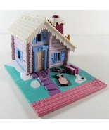 1993 Vintage Polly Pocket Ski Lodge Building plus One Doll