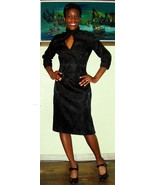 Stunning Asian Style 60's Vintage Black Party W... - $55.00