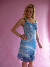 Blue Tie Dyed Vintage Vanity Fair Full Dress Slip 34 S - Victoria - Bonanzle
