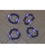 Napkin Rings Acrylic Faceted Beads Homemade Set... - $7.99