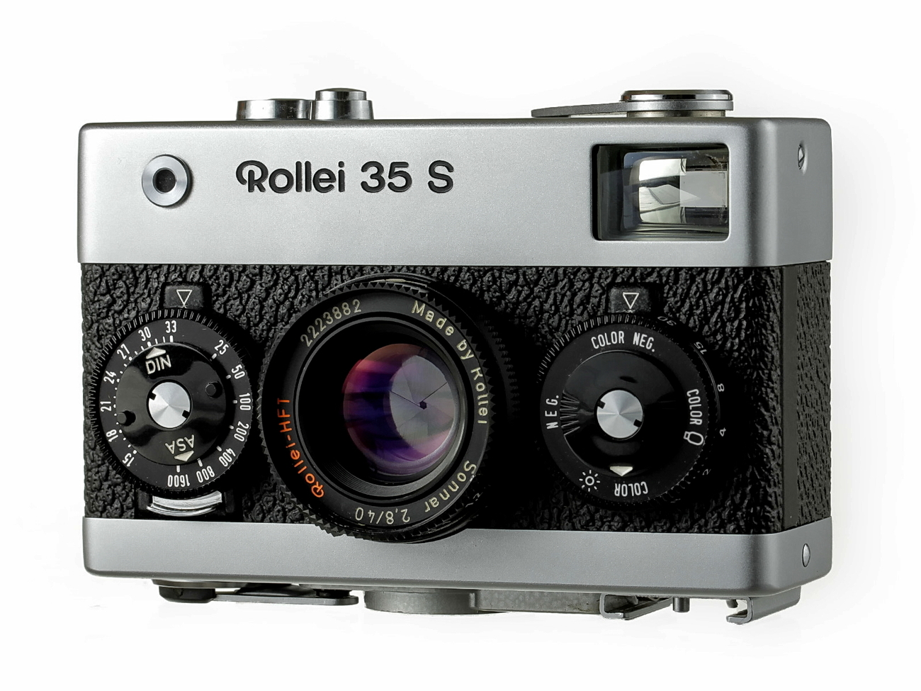Rollei 35 S 35mm Camera Sonnar Lens u0026 121BC Flash Mint - Film Cameras