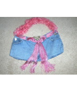 Recycled Blue Jean Purse Handcrafted Tote Bag - $10.00