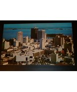 Vintage Miami FL Biscayne Bay aerial view  Post... - $19.99