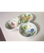 Italy Divided Serving Dish Hand Painted And Bea... - $14.97