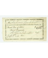 LOT (8) 1860's Turnpike Receipts CRAWFORDSVILLE... - $10.00