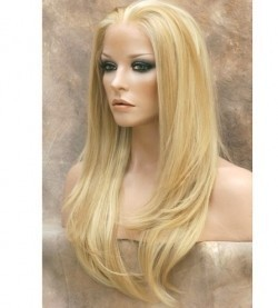 Hot handmade synthesis lace reception blond wig