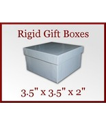 12 White Gloss Rigid Bracelet Gift Boxes 3.5 x 3.5 x 2 in Jewelry Retail - $15.75