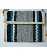 Southwest Style Wool Rug Handbag With Leather S... - $20.00