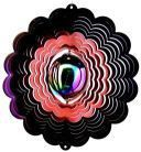 Gazing Ball Wind Spinner - Color Fusion Red/Purple Wind Spinner W/Gazing Ball