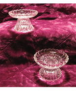 Scalloped Crystal Candle Holders for Votives or... - $16.99