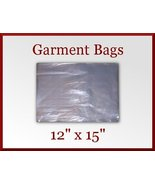 24 Clear Poly Garment Bags 12 x 15 T-Shirt Plastic Bag with 2 in Flap