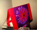 "Handmade All Occasion Greeting Card - ""viola e rosso"""