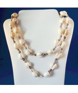 Vintage Shell Strand Necklace 34 Inches Costume - $12.99