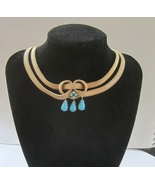 Henkel & Grosse for Dior Faux Turquoise Drops Necklace Germany 1960. - $300.00