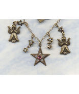 Top Shelf Jewelry Angel Charm Necklace Signed C... - $14.99