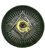 Embroidered Patch Masonic Eye Patch - $3.22