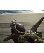 Brown Coffee Obsidian Pendant Sterling Silver - $12.99