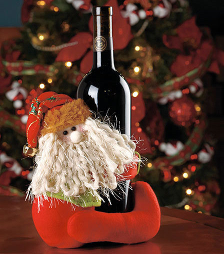 Santa Wine Bottle Hugger Holder