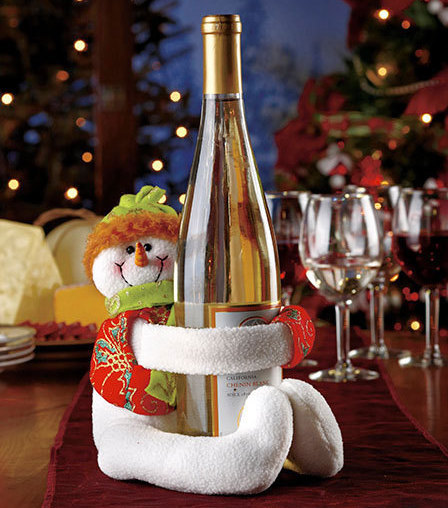 Snowman Wine Bottle Hugger Holder