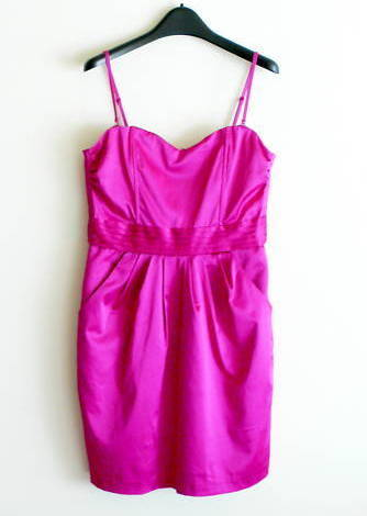 MINT H&M Cocktail Bustier Cummerbund Dress in Fuchsia 8