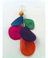 BRAND NEW Hand Made Multi Colored Tagua Earring... - $15.00