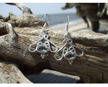 Buy White Topaz Scrollwork sterling earrings