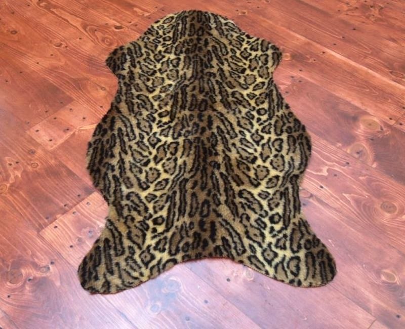 Faux leopard skin rug large other - Faux animal skin rugs ...