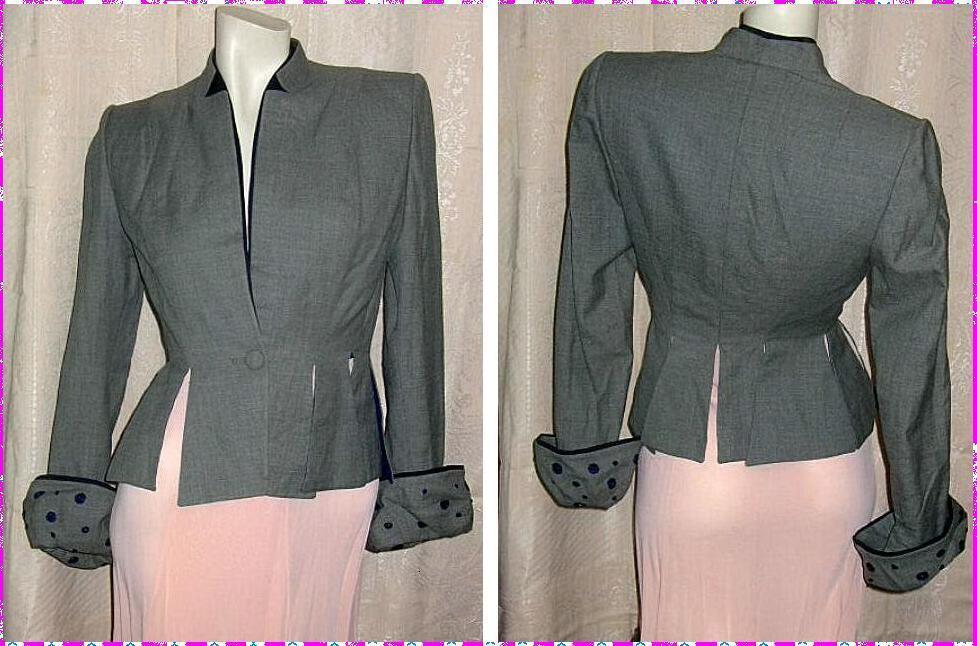 Vintage Lilli Ann Hour Glass Jacket 1940s Import Fabric Of Italy Fab Details