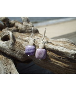 Genuine Tourmaline  Flourite earrings Sterling ... - $12.50