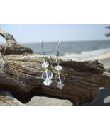 Blue Topaz and Peridot earrings Sterling Silver... - $12.50