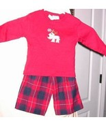 2 pc Christmas Outfit Baby Top Pants Rudolph In... - $9.93