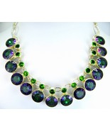 Circles of Mystic Topaz with Peridot Sterling S... - $310.08