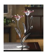 Candle Lamp TEALIGHT HOLDER  Clear crystal  Iro... - $16.39