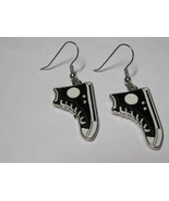 High top sneakers dangle earrings