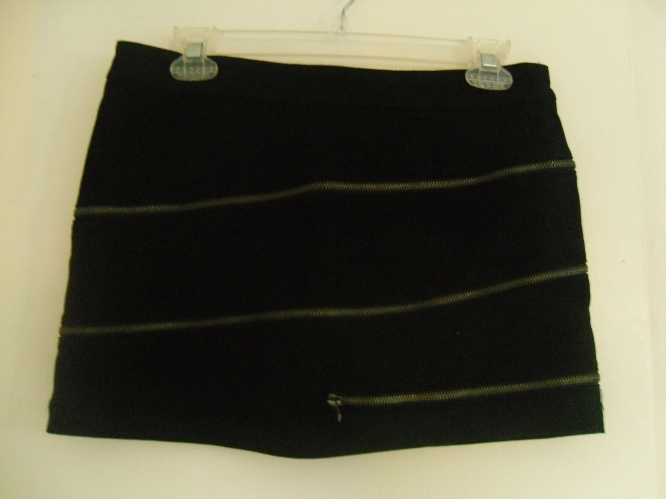 Black Zipper Skirt Size 7 Dollhouse