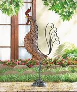 Metal Sculpture Rooster Made w/ Cast Iron and Wrought iron