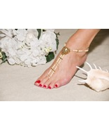 Beach Bride Handcrafted Beaded Barefoot Sandals - $69.99