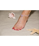 Lavender Romance Handcrafted Beaded Barefoot Sa... - $69.99