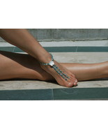 Seaside Splendor Handcrafted Beaded Barefoot Sa... - $74.99