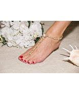 Bridal Elegance Handcrafted Beaded Barefoot San... - $144.99