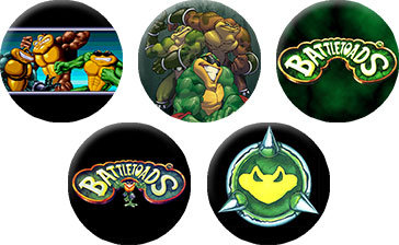 Lot of 5 Battletoad Button pin Badges Nintendo NES