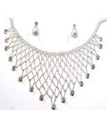 NP03 Exquisite Crystal Ball Chain Bib Necklace ... - $10.99