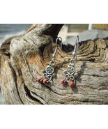 Terra cotta colored glass bead earrings  - $7.99