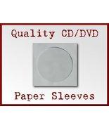 200 White CD DVD Disc Paper Sleeve Clear Window... - $12.98