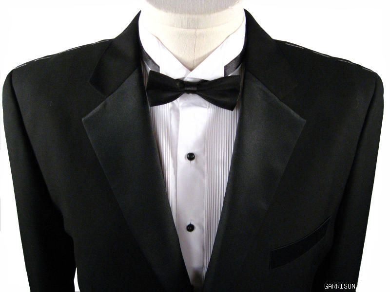 $1299 MENS SUPER 150'S WOOL BLACK 3 BUTTON TUXEDO 46S