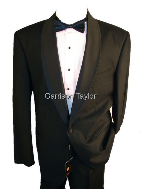 SHAWL COLLAR ONE BUTTON BLACK TUXEDO 38R