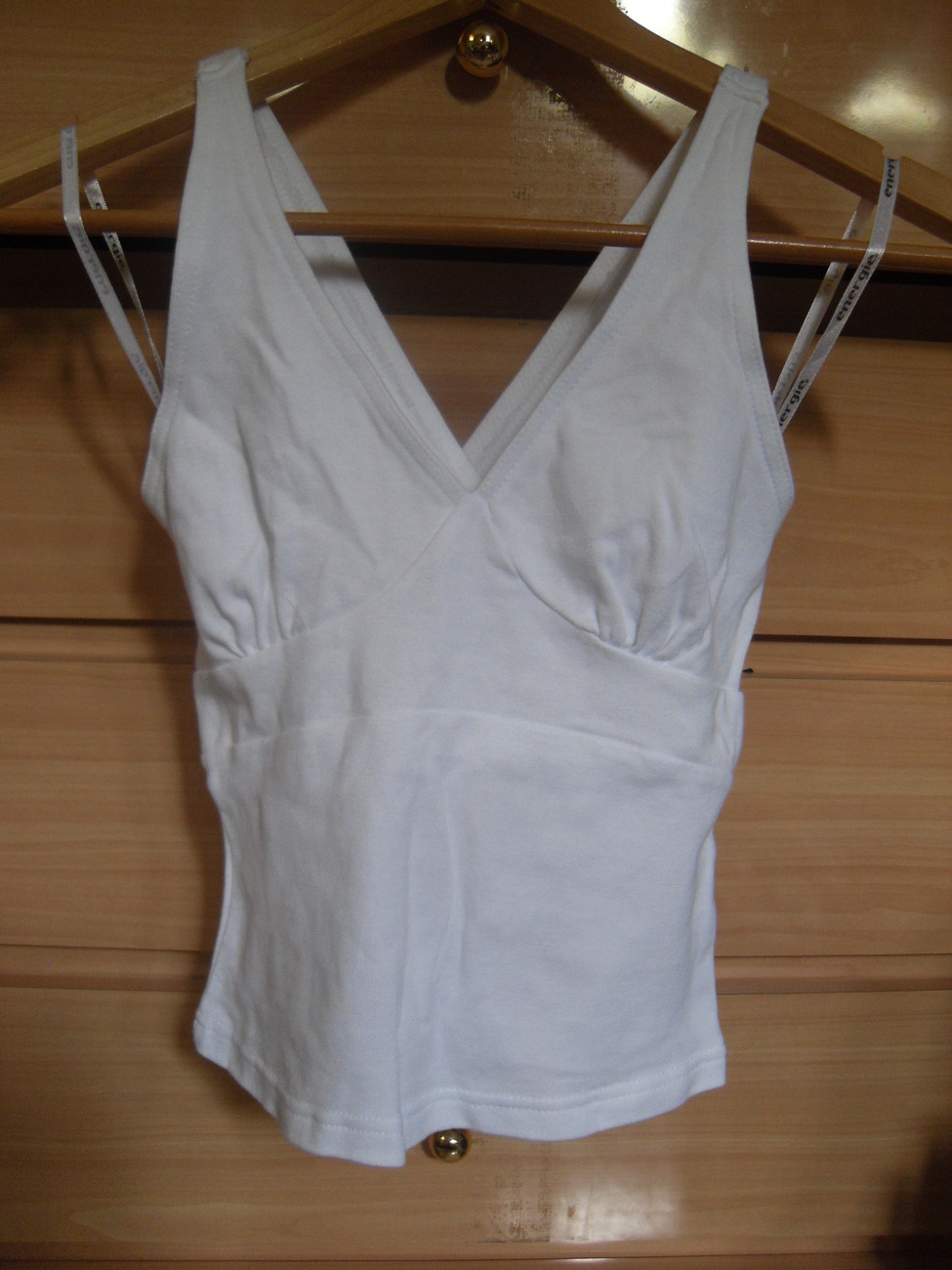 Energie White Cross Back Top Size Small
