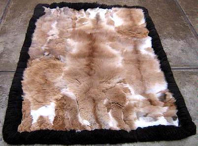 Soft baby alpaca fur carpet with a black boarder, 300 x 280 cm/ 9'84 x 9'18 ft